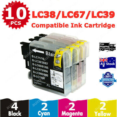 10x Ink Cartridge LC39 LC985 for Brother MFC J220 J410 J265 DCP J315W J125W J515