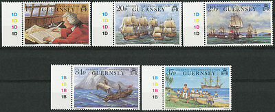 Great Britain Guernsey. Set of Scott 436-440 or SG 496-500 MNH Stamps