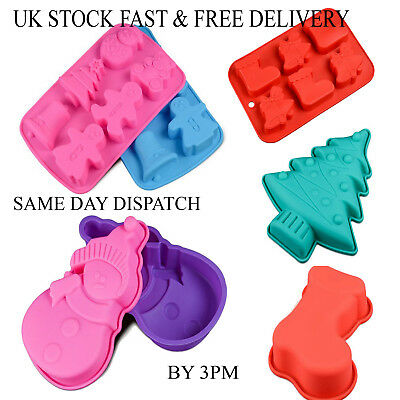 Vincenza Christmas Chocolate Cake Ice Mould Tray Bakeware Mold Candy Silicone
