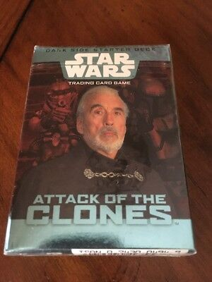 Star Wars Attack Of The Clones Trading Card Game Sealed Pack Dark Side Starter