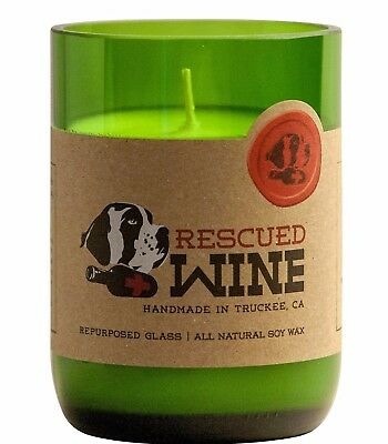 Chardonnay Rescued Wine Hand Poured Soy Candle - Recycled Wine Bottle