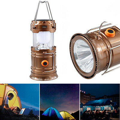 Collapsible High Power Solar Panel Tent Night Protable Lantern LED Camping Lamp