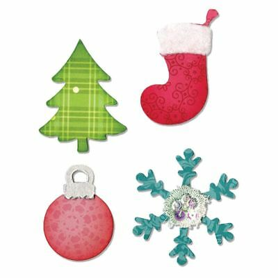 Sizzix Bigz Cutting Die Christmas Tree, Ornament, Snowflake & Stocking A10599