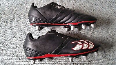 Canterbury Phoenix Club 8 Stud Rugby Boots Size 9 ..excellent Cond Rrp £55