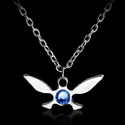 Legend Of Zelda Silver Navi Fairy Charm Necklace Ocarina Of Time Link Cosplay