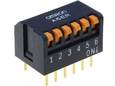 A6ER-6101 Switch DIP-SWITCH Poles number6 ON-OFF 0.025A/24VDC 100MΩ OMRON