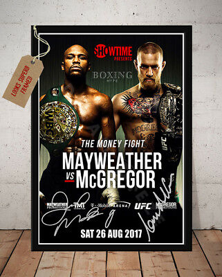 Floyd Mayweather Vs Conor Mcgregor 26Th Aug 2017 Signed Boxing Photo Print