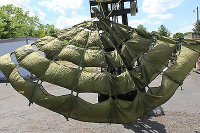 US Military 15' Extraction Parachute Canopy, Lines Cut, Includes Bag
