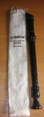 YAMAHA soprano / descant RECORDER ( in bag) YRS - 248 (2 AVAILABLE free p&p 2nd)