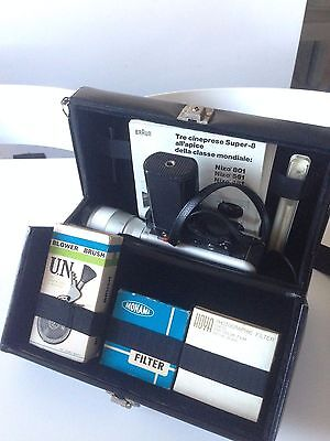 Braun Nizo S800 S 800 Super 8 Movie Camera Schneider Kreuznach