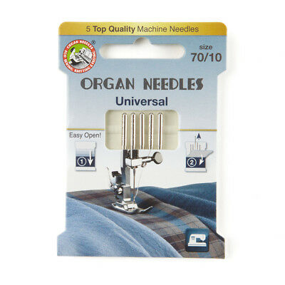 Organ Universal Domestic Sewing Machine Needles size 70 (130R-070-ECO5OR)