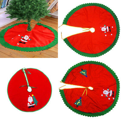 Santa Claus Snowman Christmas Tree Skirt Round Stands Ornaments Xmas Party Decor
