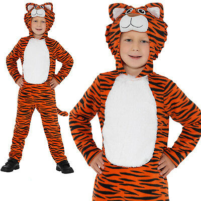 Tiger Costume Animals Boys Childrens World Book Day Week Fancy Dress Outfit