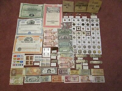 Lot Canadian coins world paper currency part rolls some quality trends $882