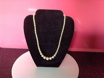 Single Strand Vintage Pearls Champagne Colour