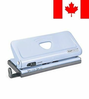 Rapesco Adjustable, 6 Hole Punch Paper Punches, Blue (1323)