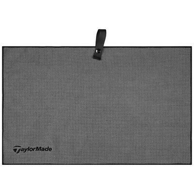 "TAYLORMADE MICROFIBER CART GOLF TOWEL GREY 15""x24"" - NEW 2017"