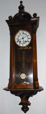 walnut cased vienna wall clock by lenzkirch c1900s
