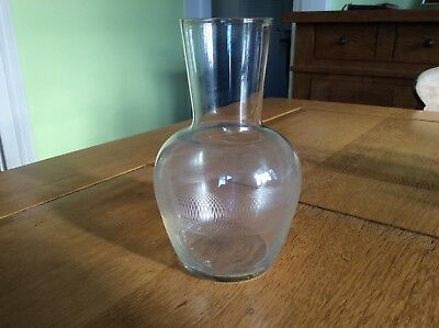 Ectched carfe pall mall Victorian with water glass