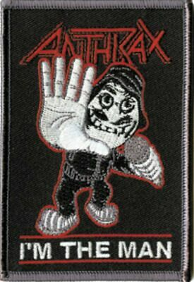 Anthrax I'm The Man Not Man Embroidered Patch A001P Metallica Slayer Testament