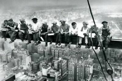 Lunchtime, Rockefeller Center (Lunch atop a Skyscraper) Charles C. Ebbets Poster