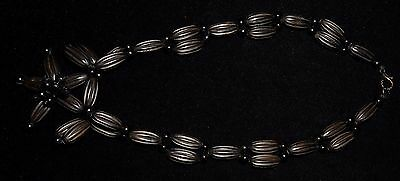 "Antique Victorian Vulcanite Whitby Jet Mourning  Necklace 1870 Choker 16.4"" Wow!"