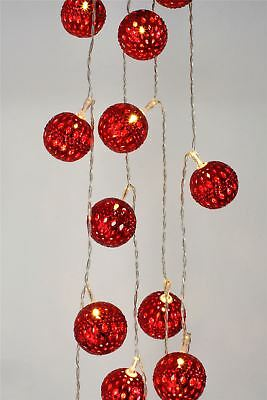 Red Grand Maroq - 16 LED Indoor Light Chain w/Built In Timer - Battery Operated