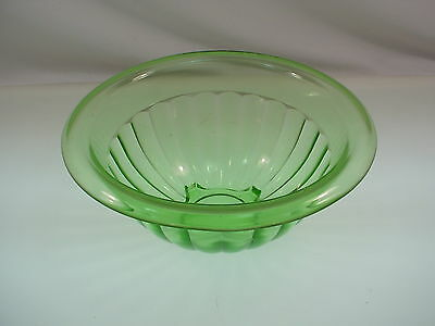 Vintage Imperial Uranium Glass Bowl Depression Glass