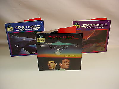 Star Trek See Head Read Record Book Lot Wrath Of Khan Search For Spock