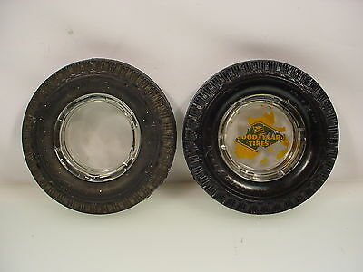 Vintage Goodyear Tire Ashtray - 2 Goodyear Usa Ashtrays
