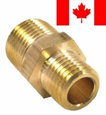 Forney 75533 Brass Fitting, Reducer Adapter, 3/8-Inch Male NPT to 1/4-Inch Ma...