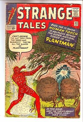 1963 MARVEL STRANGE TALES #113 WITH GD+ GRADE - 1st PLANTMAN
