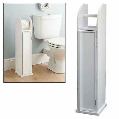 Free Standing Bathroom Storage Cabinet Toilet Paper Roll Holder Rack Stand New