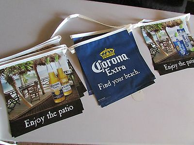 Corona Extra Bottle Find Your Beach Enjoy The Patio String Banner Beer sign T=