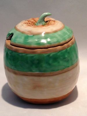 Shelley Pottery Art Deco Lidded Preserve Jam Pot Jar & Lid 1920s 1930s Signed