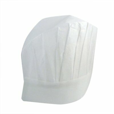 EUBUY White Professional Disposable Paper Cooking Kitchen Adult Chef Hats(24