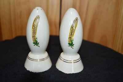 Vintage/Antique Coors Pottery Decorative S&P Shakers - Estate - No Corks