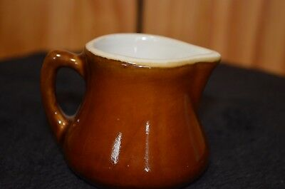 Vintage/Antique H.F. Coors China Chefsware Cream Pitcher #160 Brown - Estate