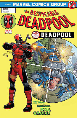 DESPICABLE DEADPOOL #287 ESPIN LENTICULAR HOMAGE LEGACY VARIANT NM 1st Print