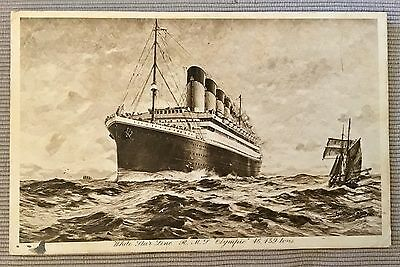 Olympic  Postmarked Stamped White Star Line Titanic Britannic Sister Ship Liner