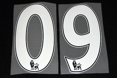 Premier League 2012/16 White PS Pro 258mm Football Shirt Numbers 0-9 Sporting ID