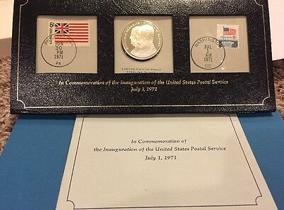 1971 July 1st Commemoration Inauguration United States Postal Service Silver