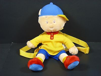 Caillou Large 14'' Stuffed Plush Doll Backpack Shoulder Bag (2000)