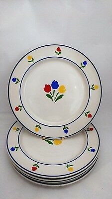 "JMP Marketing Tulip Tyme - Set of FIVE 10 5/8"" Dinner Plates"