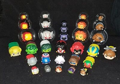 Marvel Disney TSUM TSUM Lot of 32 - (12) Large, (10) Medium, (10) Small