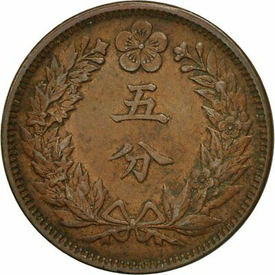 [#507917] Korea, Kuang Mu, 5 Fun, Year 2 (1898), AU(50-53), Copper, KM:1116