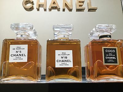 Vintage Advertising Store Display CHANEL perfume, COCO, CHANEL 19 & CHANEL 5 EDP