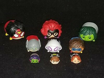 Marvel Disney TSUM TSUM Lot of 9  (3)Large (3) Medium (3) Small - Women of Power