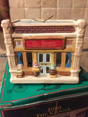 Kroger Christmas ornament 1910 Kroger grocery & baking company in box 3 x 3 1/2