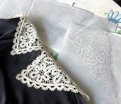 """PATTERN for Large V Collar. Length 30 """" Russian Vologda Lace Full size."""